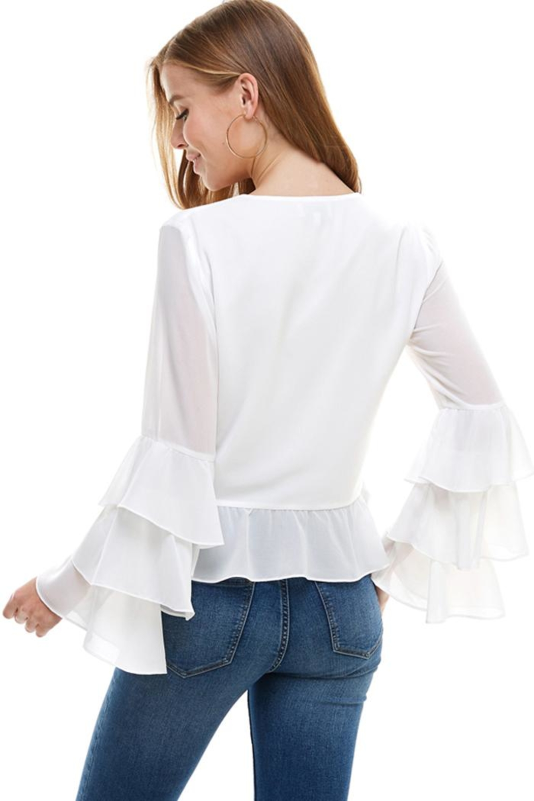 ACOA Open Tie Blouse - Front Full Image
