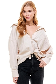 ACOA Oversized Pleat Shirt - Product Mini Image