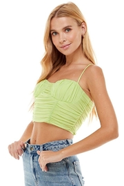 ACOA Ruched Detail Mesh Cami - Side cropped
