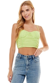 ACOA Ruched Detail Mesh Cami - Front cropped