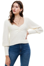 ACOA Ruched Front Sweater - Product Mini Image