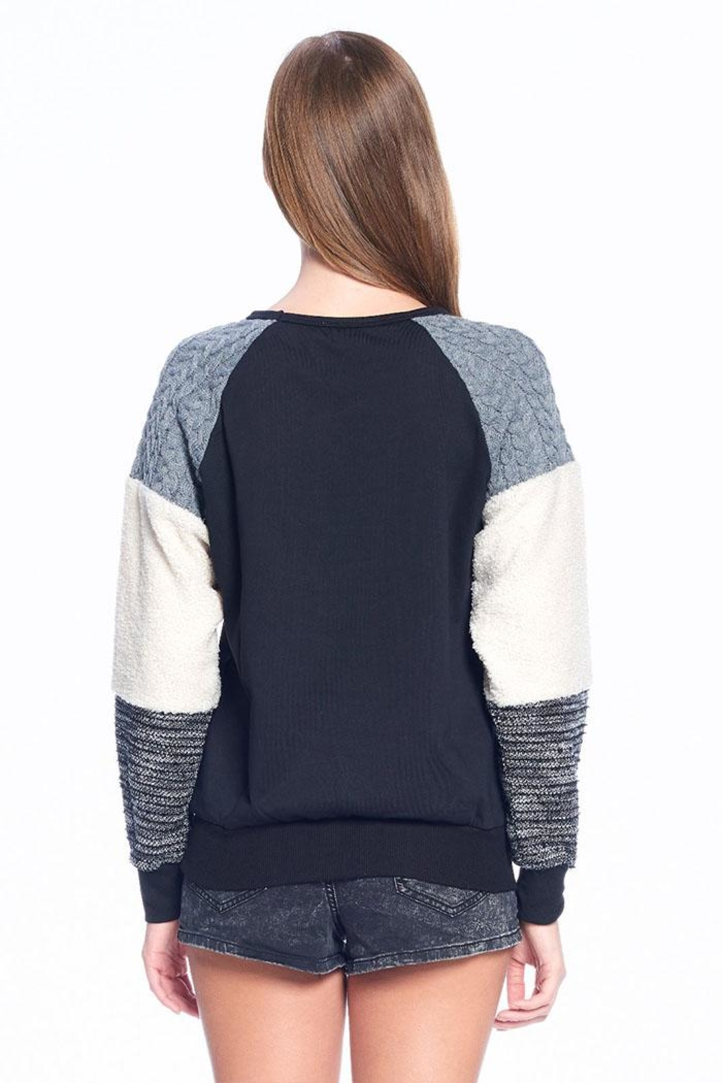 ACOA Soft Colorblock Sweater - Side Cropped Image