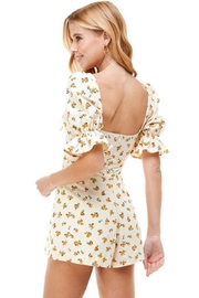 ACOA Tie Front Cutout Floral Romper - Back cropped