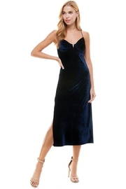 ACOA Velvet Midi Dress - Front full body