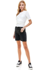 ACOA Wrap Front Detail Knit Short Sleeve Top - Other