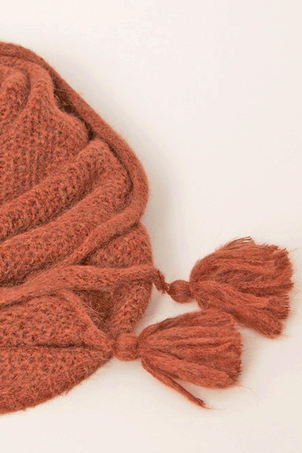 Acoté Triangle Tassel Scarf - Front Full Image