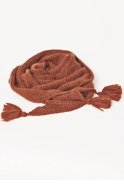 Acoté Triangle Tassel Scarf - Front cropped