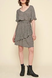 Acoté V-Neck Ruffle Dress - Product Mini Image