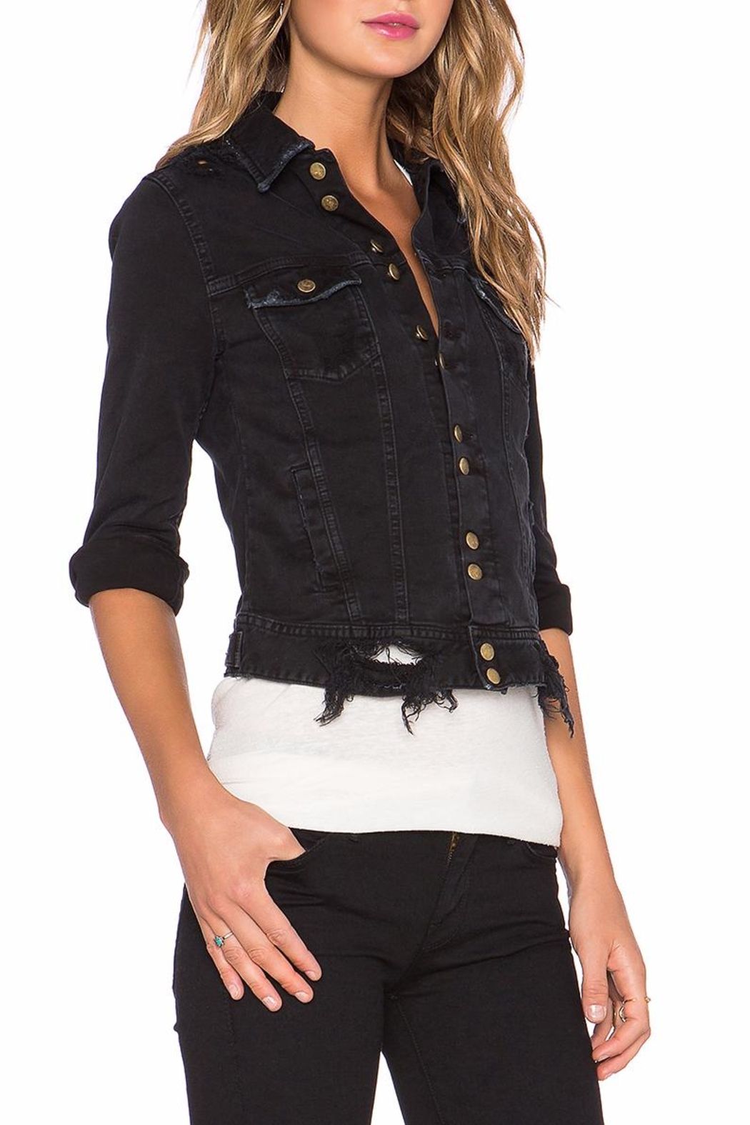 Acquaverde Carmen Denim Jacket - Front Full Image