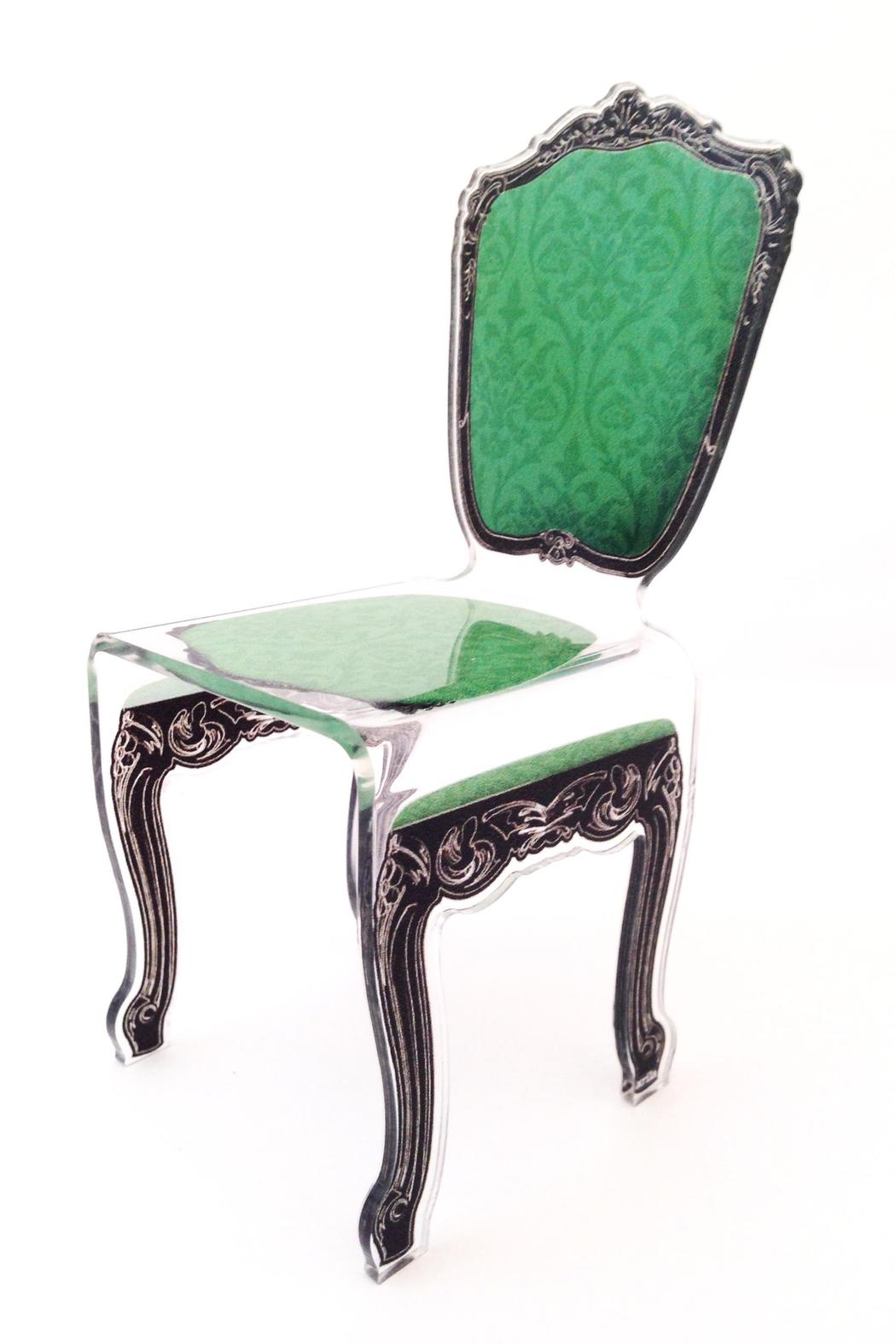 Acrila Miniature Acrylic Chair   Front Cropped Image