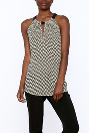 Acrobat Printed Sleeveless Long Top - Product Mini Image