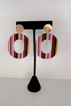 ADRIANA JEWERLY Acrylic Circle Ellie Earrings - Product List Image