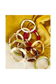 COASTAL GRIT Acrylic Collection- Cream Bracelet - Front cropped