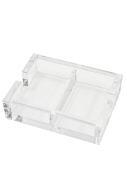 Caspari Acrylic Playing Card Holder - Front cropped