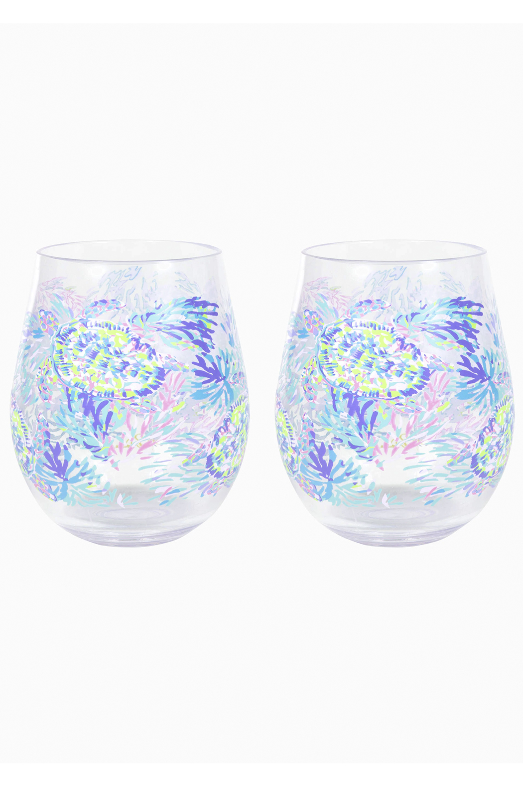 Lilly Pulitzer  Acrylic Wine Glass Set - Front Cropped Image