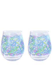 Lilly Pulitzer  Acrylic Wine Glass Set - Front cropped
