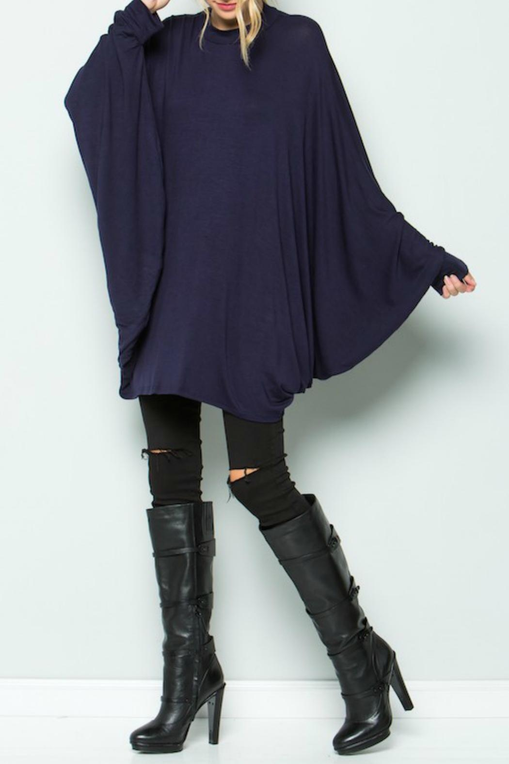 Acting Pro Navy Poncho Dress - Main Image