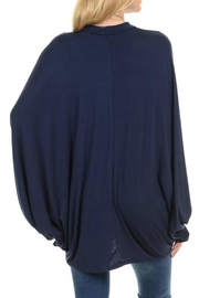 Acting Pro Navy Poncho Dress - Front full body