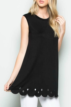 Acting Pro Scalloped Hem Tunic - Product List Image