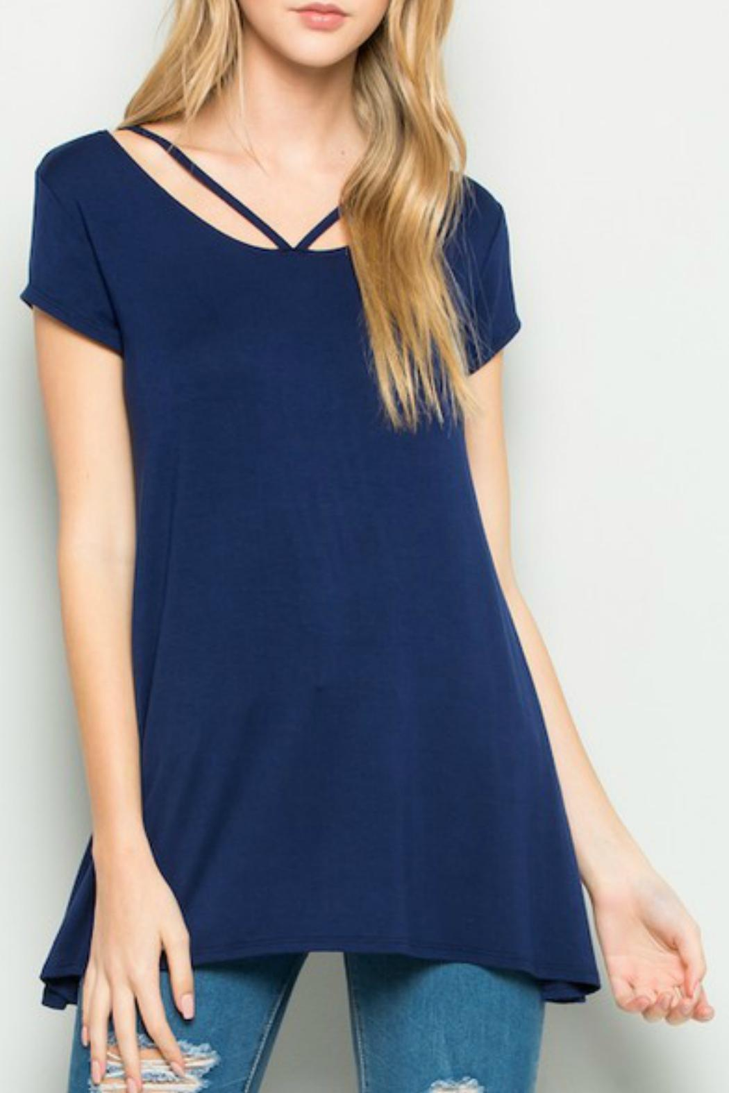 Acting Pro Short Sleeve Detail Tunic - Front Cropped Image