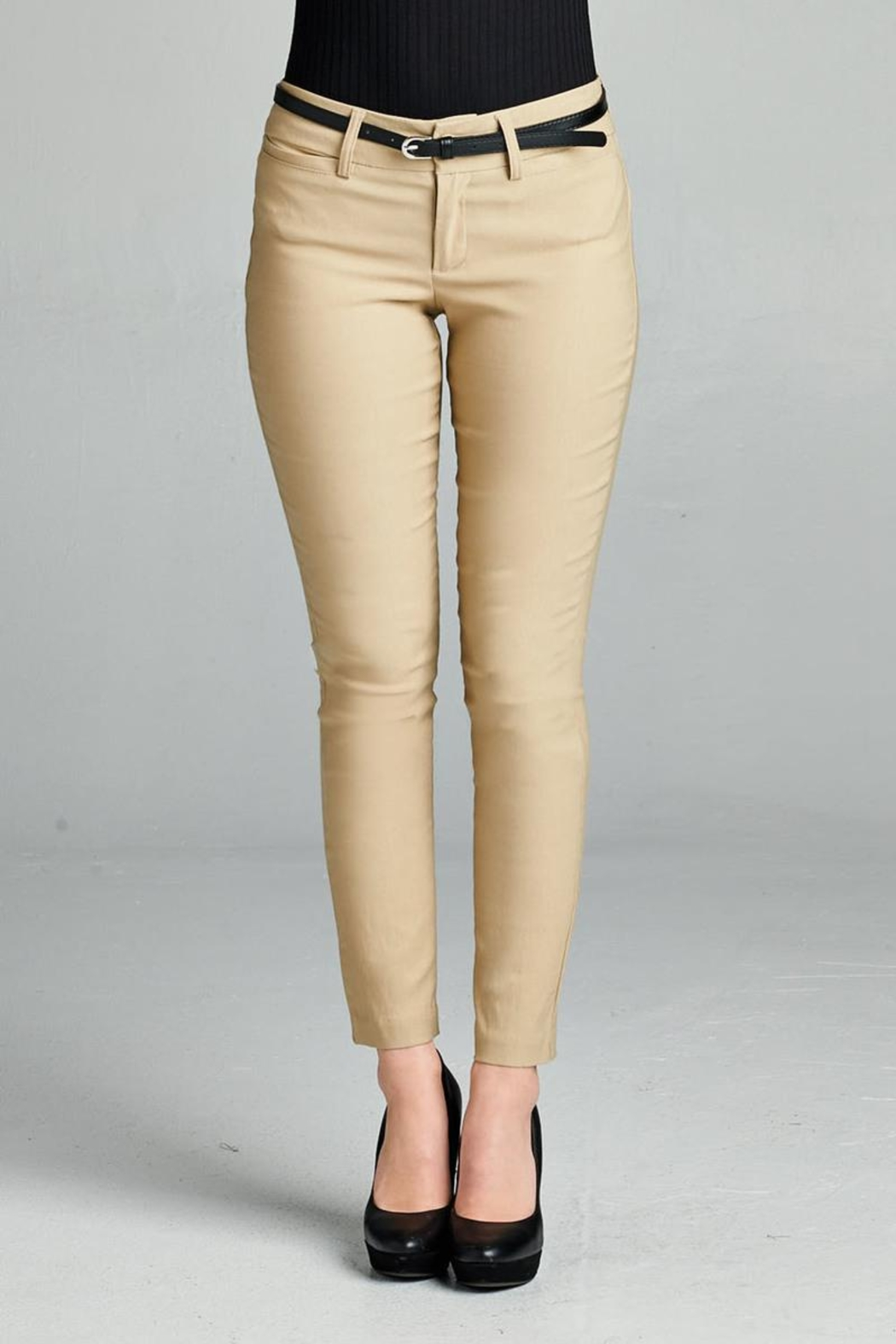 Active Belted Skinny Pant - Front Cropped Image