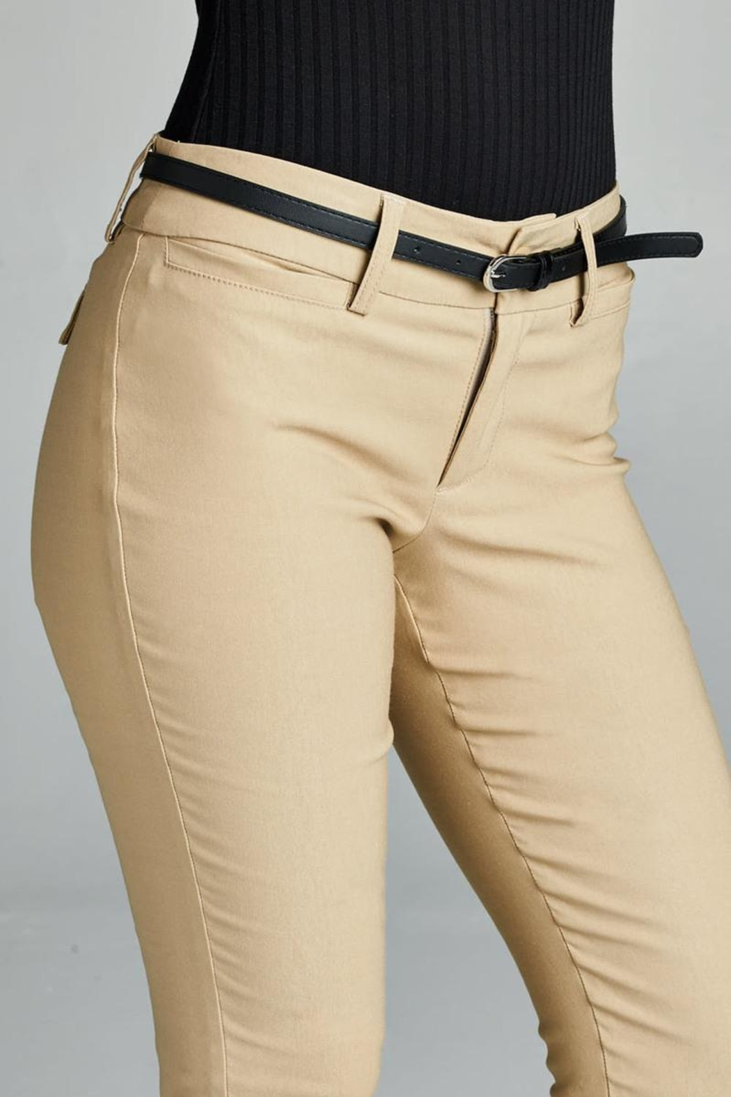 Active Belted Skinny Pant - Back Cropped Image