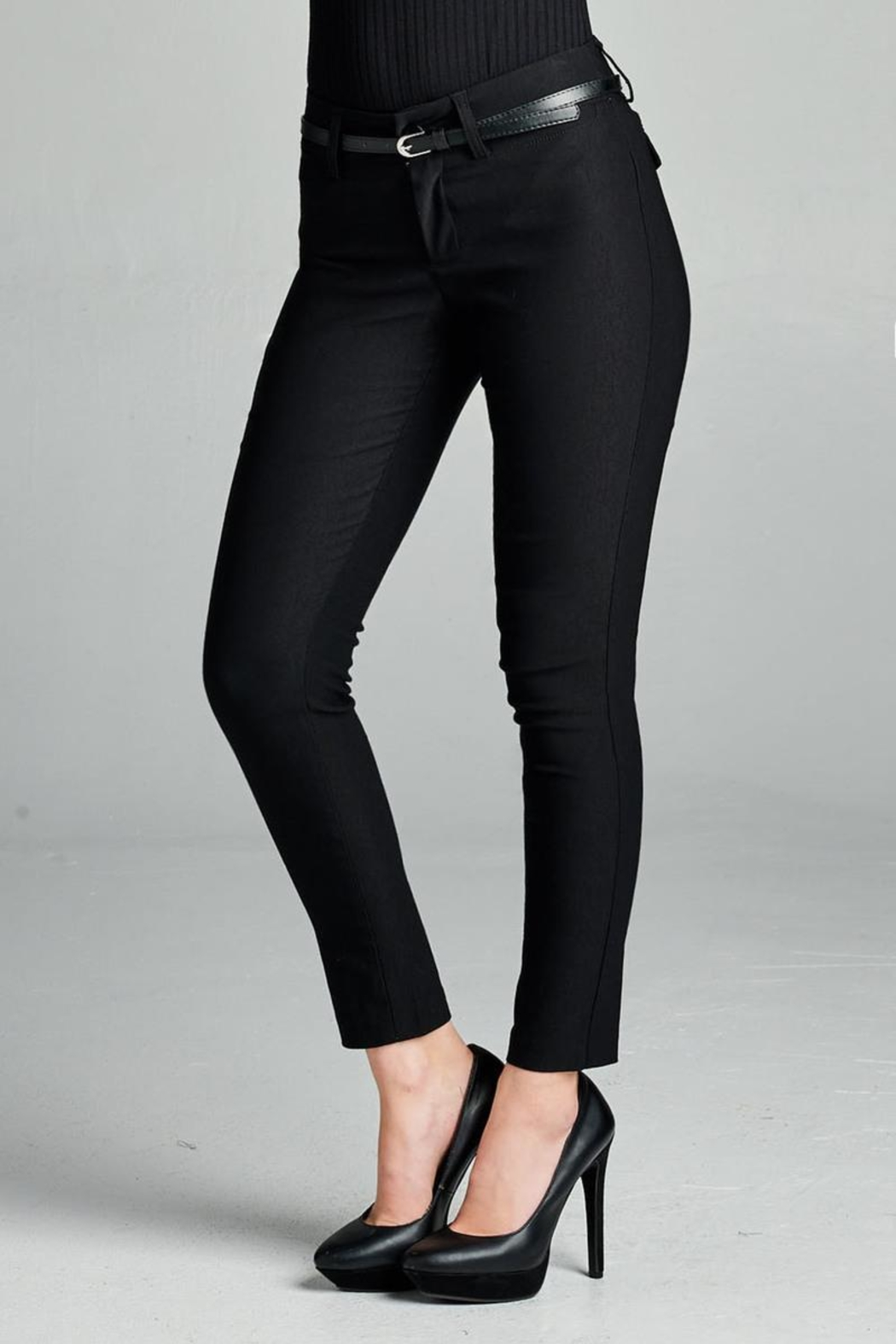 Active Belted Skinny Pant - Front Full Image