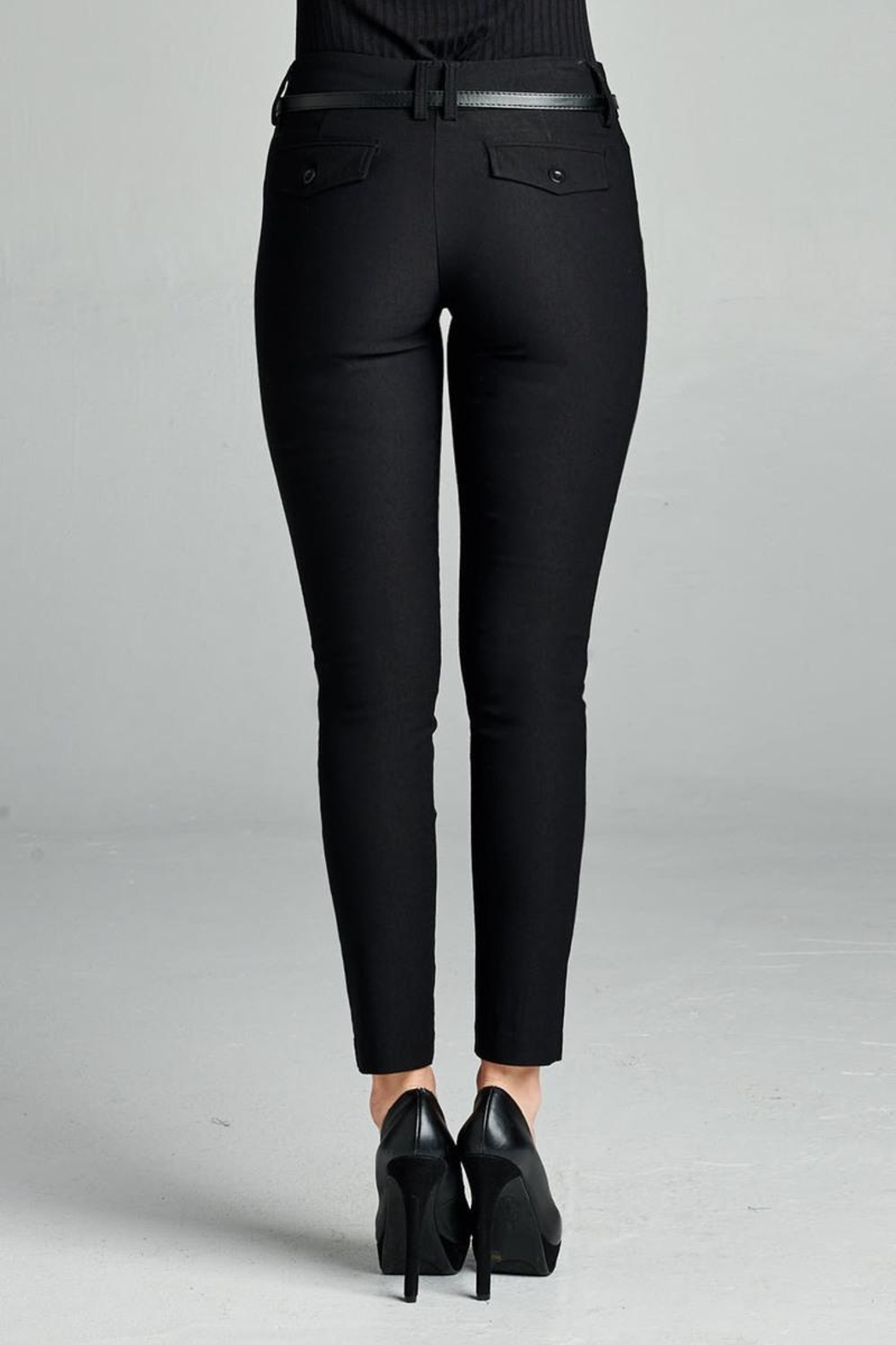 Active Belted Skinny Pant - Side Cropped Image