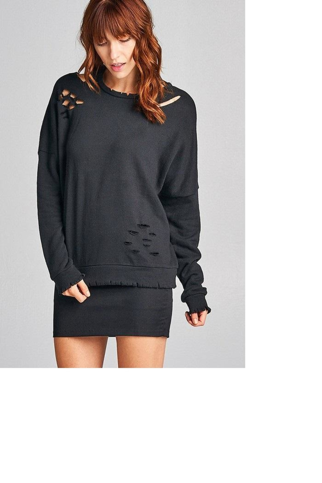Active Black Sweatshirt - Front Cropped Image