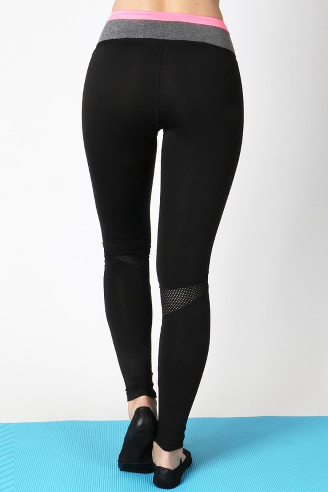 Zenana Outfitters Active Block Pant - Front Full Image
