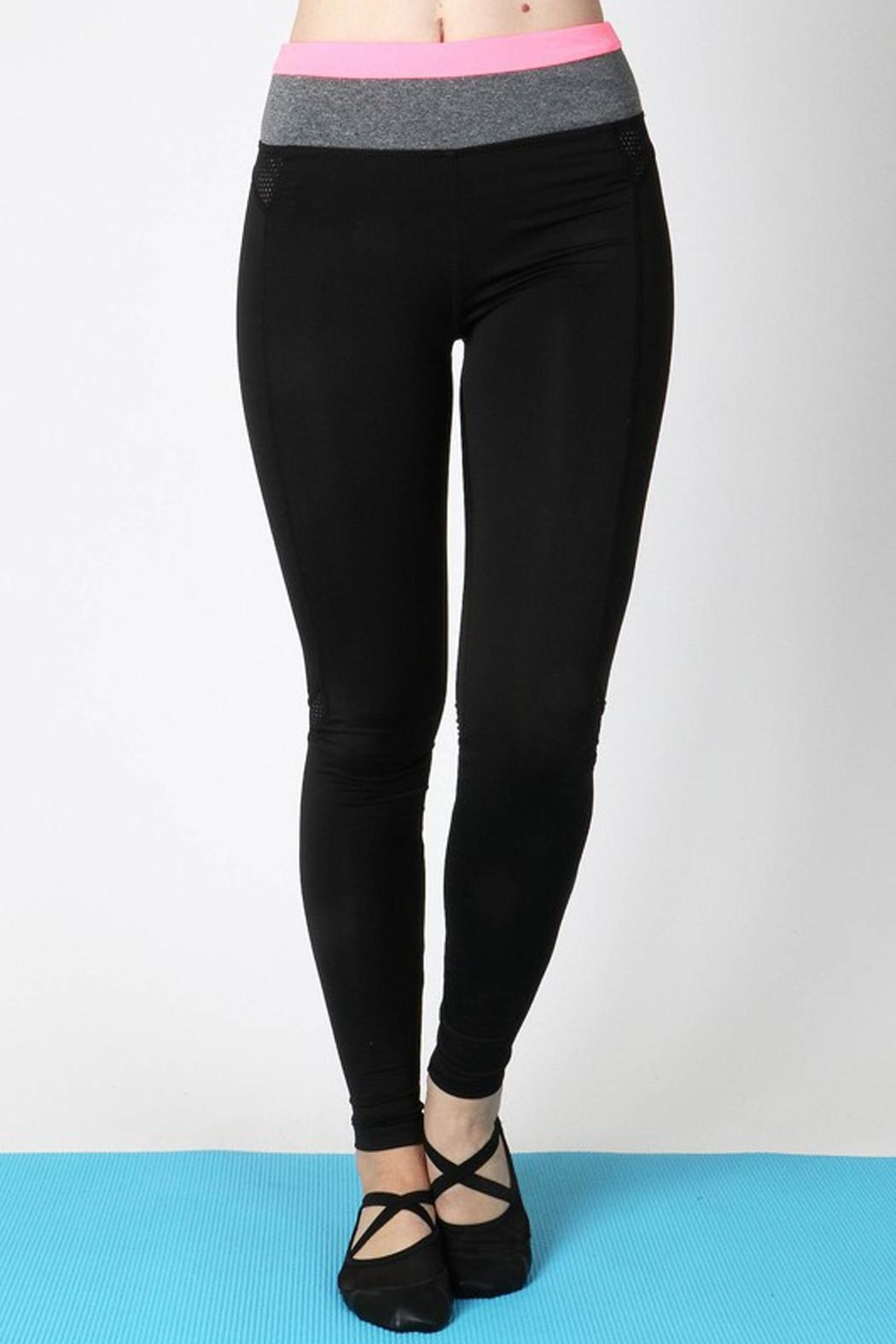 Zenana Outfitters Active Block Pant - Front Cropped Image