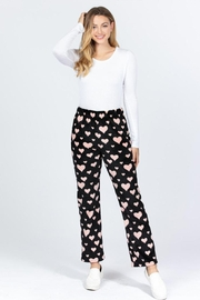 Active Brushed Hearts Pj-Pants - Front cropped