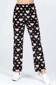 Active Brushed Hearts Pj-Pants - Back cropped