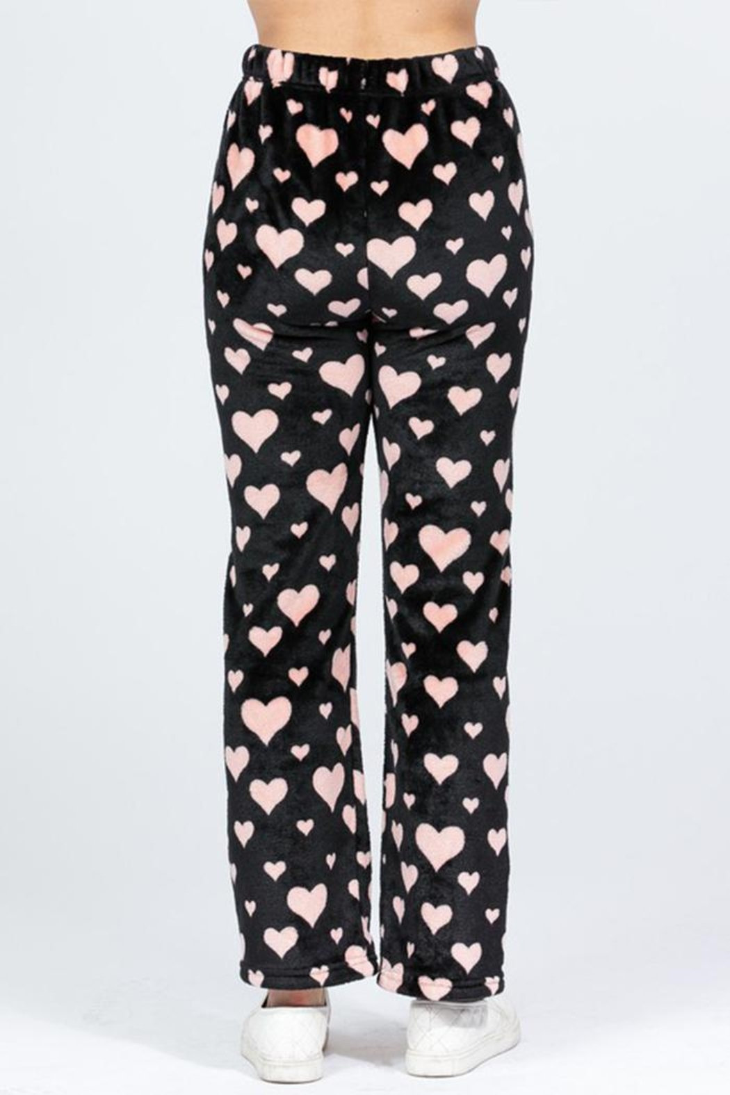 Active Brushed Hearts Pj-Pants - Side Cropped Image