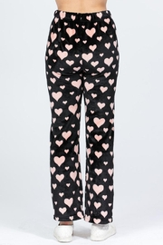 Active Brushed Hearts Pj-Pants - Side cropped