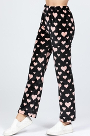 Active Brushed Hearts Pj-Pants - Front full body