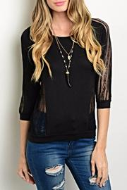 Active Distressed Black Sweater - Product Mini Image