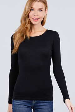 Shoptiques Product: Long-Sleeve Crew-Neck Tee