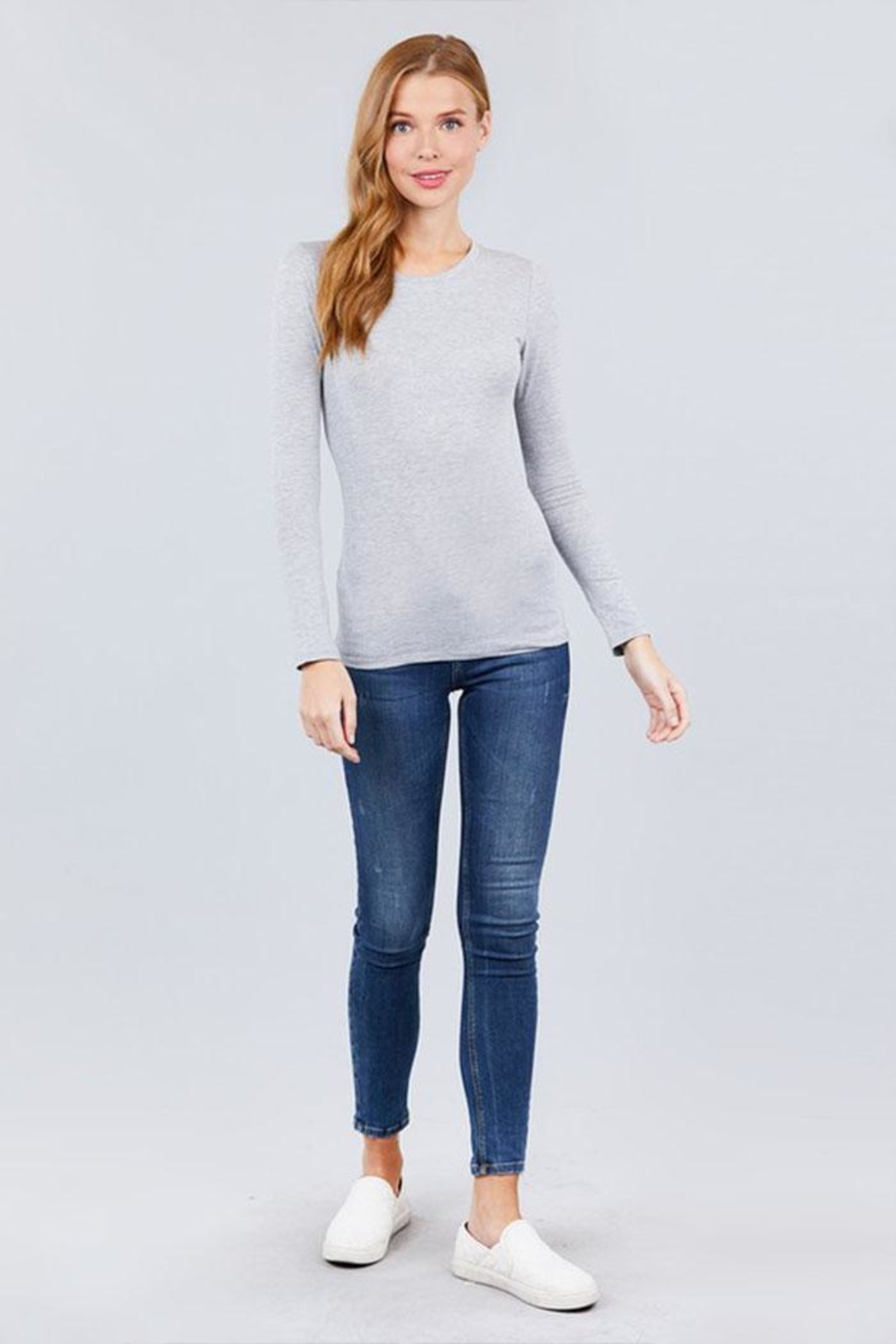 Active Long-Sleeve Crew-Neck Tee - Front Full Image