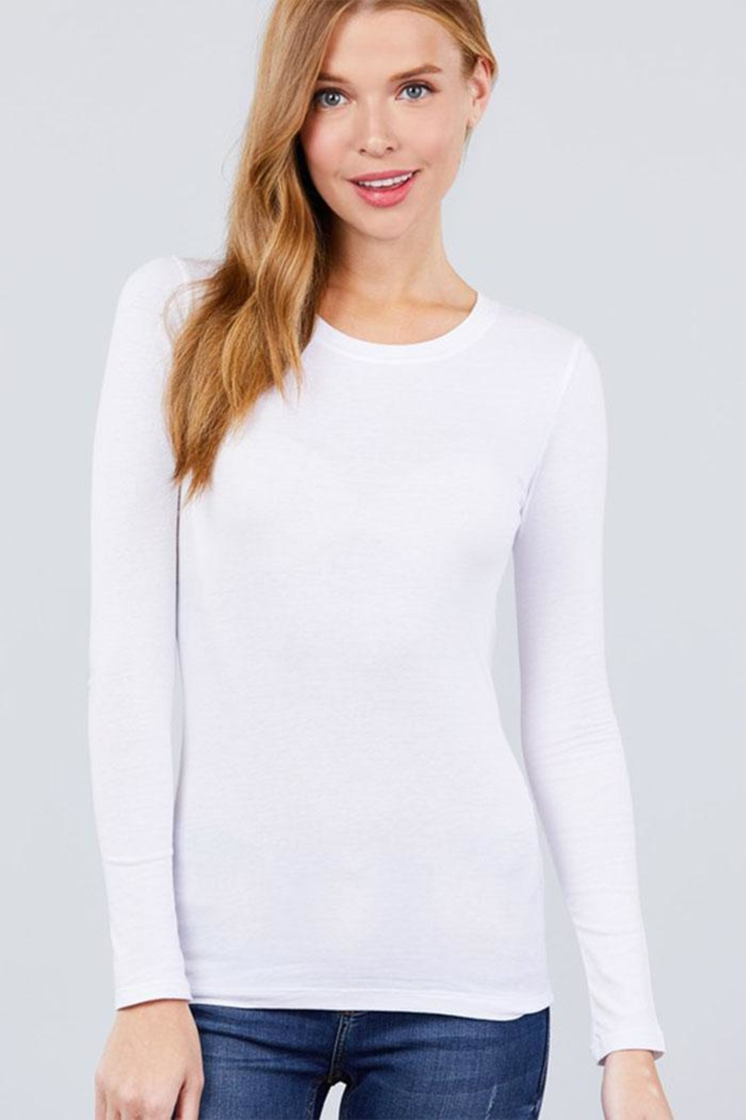 Active Long-Sleeve Crew-Neck Tee - Front Cropped Image