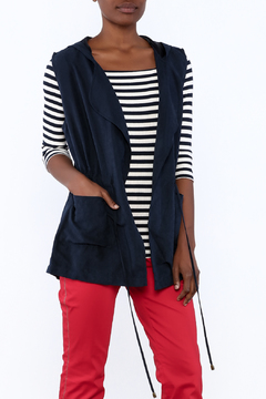 Shoptiques Product: Navy Hooded Vest