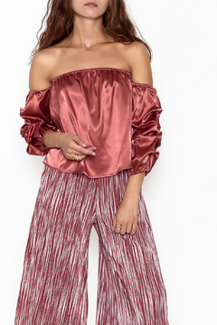 Shoptiques Product: Off Shoulder Satin Top