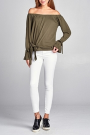 Active Off Shoulder Sweater - Front full body