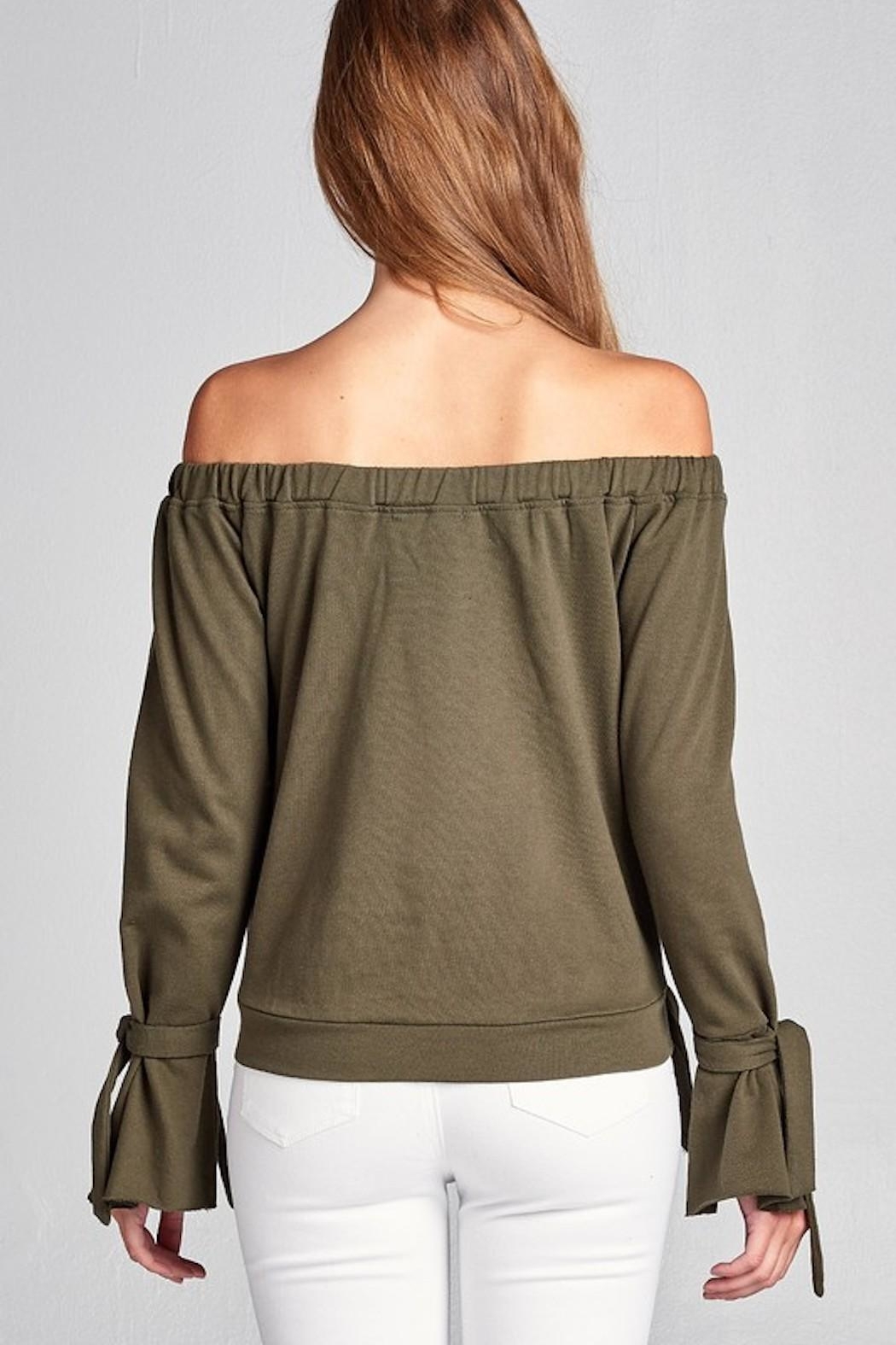 Active Off Shoulder Sweater - Side Cropped Image