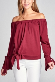 Active Off Shoulder Sweater - Front cropped