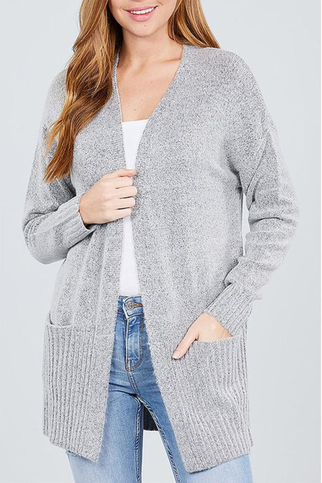 Active Open Sweater Cardigan - Main Image