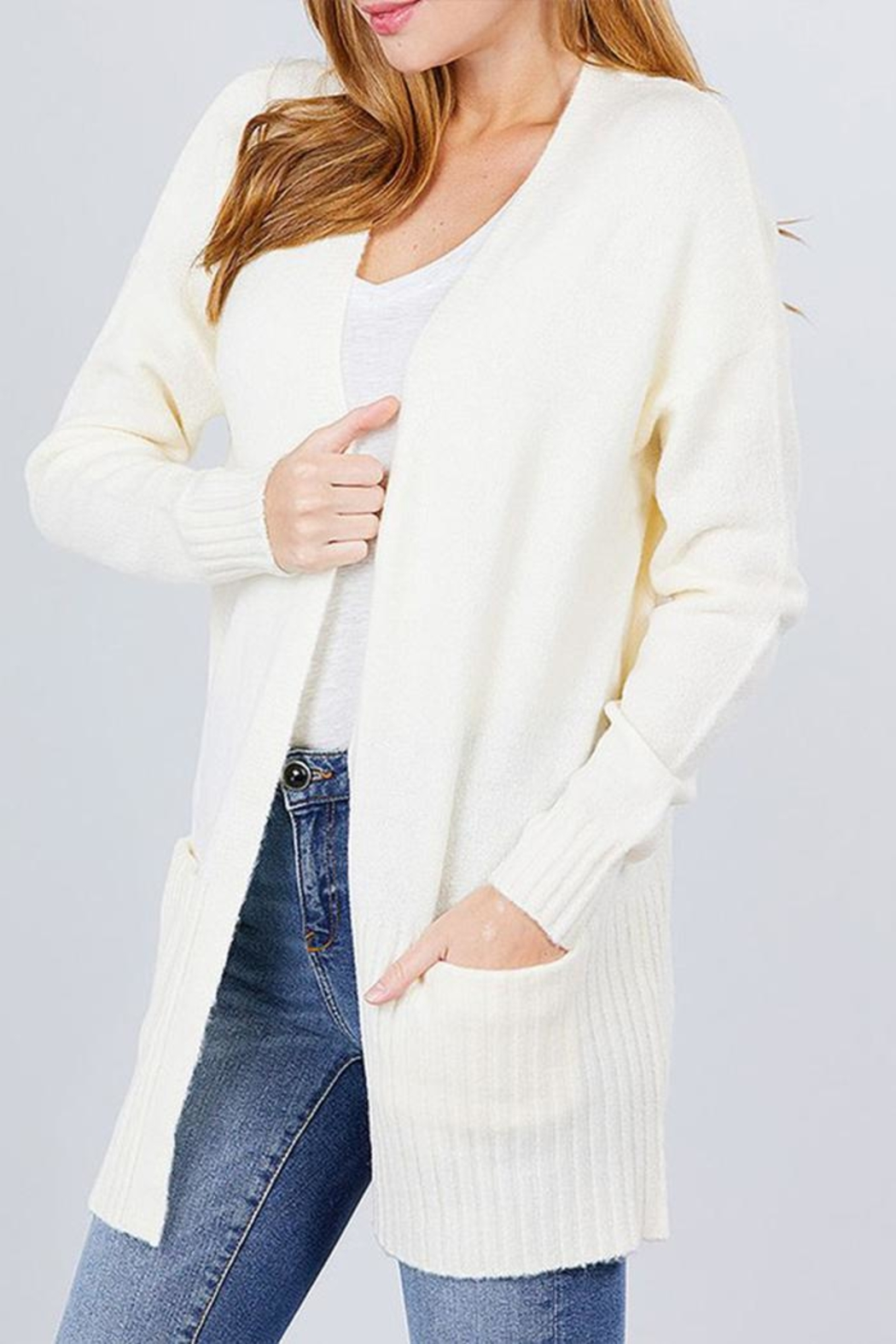 Active Open Sweater Cardigan - Front Cropped Image