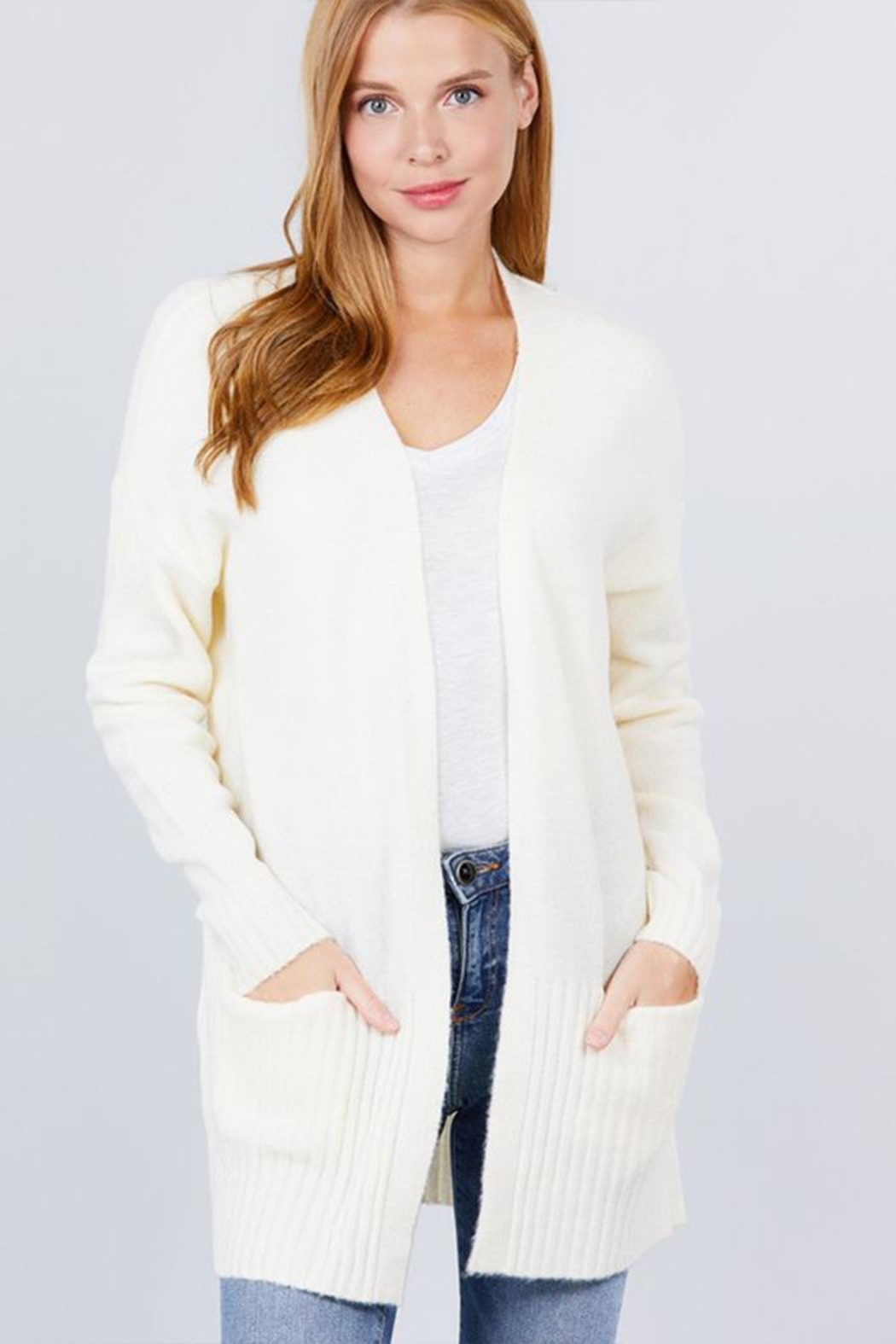 Active Open Sweater Cardigan - Front Full Image