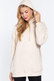 Active Oversized Longsleeve Tunic Hoodie - Front full body
