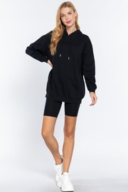 Active Oversized Longsleeve Tunic Hoodie - Side cropped